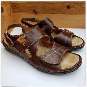 Josef Seibel 11 42 Open Toe Leather strap comfort